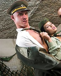 Crazy military babe and her...